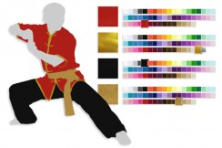 Tenue, Haut, Pant, Ceinture, Personnalisé (wushu, taiji, shaolin, wudang)