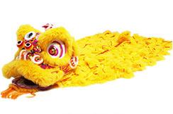 Traje Danza Del León del Sur 'Huang Jin' (Gama Alta)
