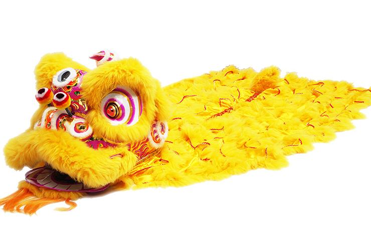 Costume Danse du Lion du Sud «Huang Jin» (Haut de Gamme)