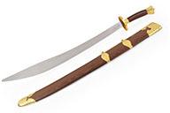 Sabre Traditionnel Inox, Lame Semi Flexible, Doré