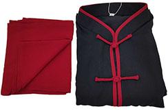 Chang Quan top, Classico, Negro y rojo oscuro