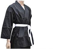 Chaqueta de Kimono Karate, Negro 180-190 cm
