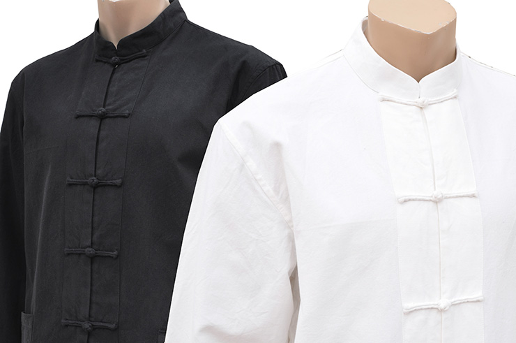 Tenue Traditionnelle «Tangzhuang» Manches Longues, Coton