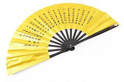 Tai Chi Fan (Tai Ji Shan) Poem, Golden