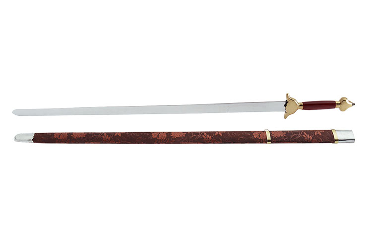 [Destock] Épée Avec Fourreau a motif fleur - Semi-Flexible