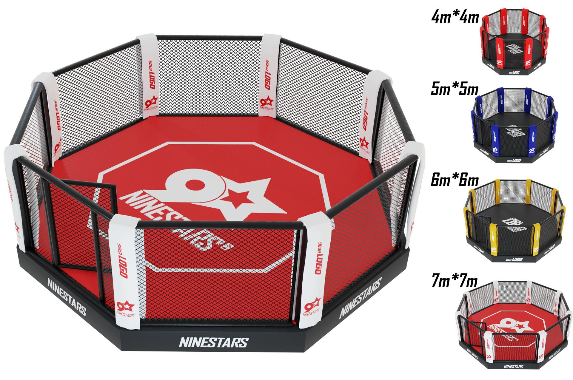Cage de Combat Libre avec Podium 10cm