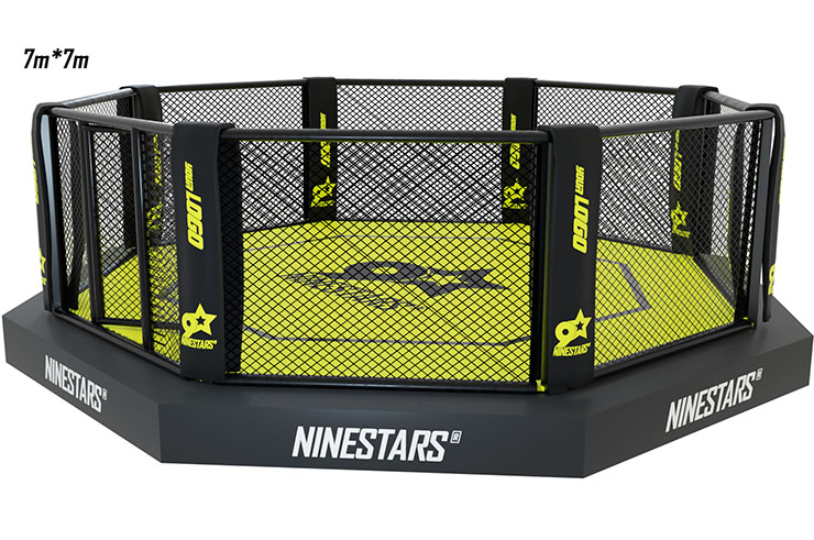 MMA Cage - On platform with sidewalk