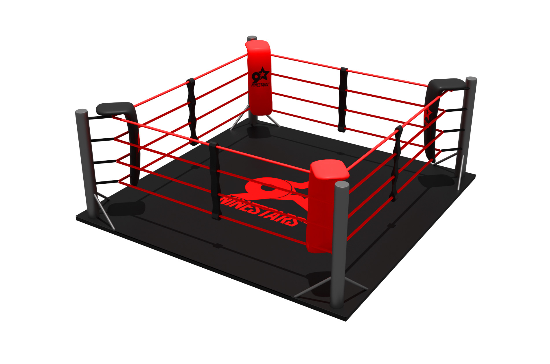 Boxing Ring On Floor