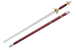 Espada con Vaina, Rojo/Oro - Semi-Flexible