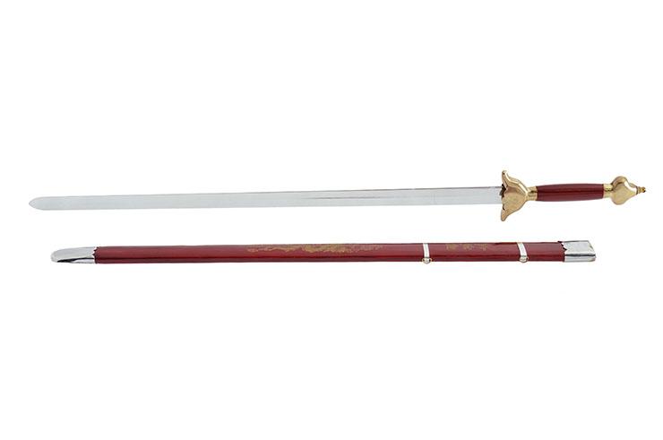 [Déstock] Épée Avec Fourreau, Rouge/Doré