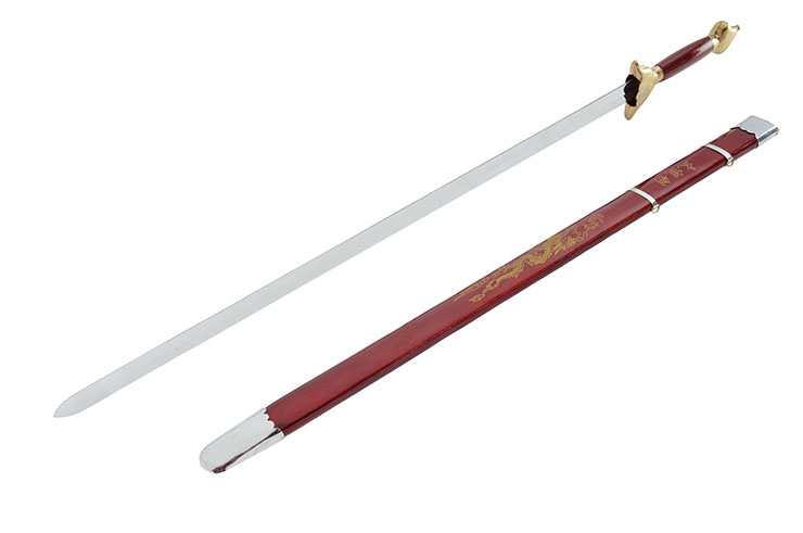 [Destock] Straightsword With Scabbard, Red/Gold