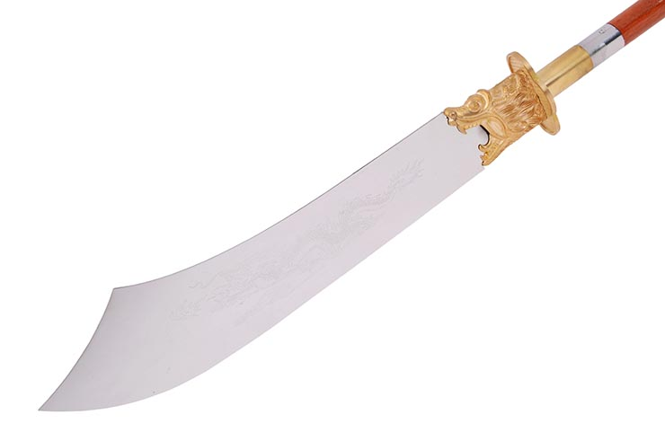 Dismantable Dragon Pu Dao Halberd, Wooden shaft - Rigid