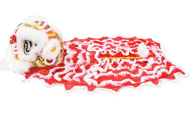 Costume Danse du Lion du Sud, Blanc et Rouge