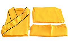 [Déstock] Traje Shaolin, 1m55 Imitación Seda, Anaranjado