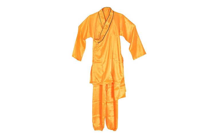 [Destock] Shaolin Uniform, 1m55 Imitation Silk, orange