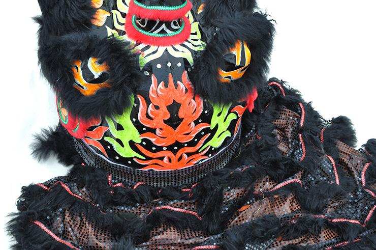 Costume Danse du Lion du Sud Noir/Noir