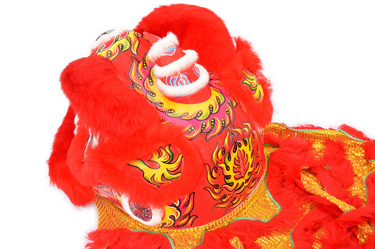 Southern Lion Dance Costume, Red/Gold