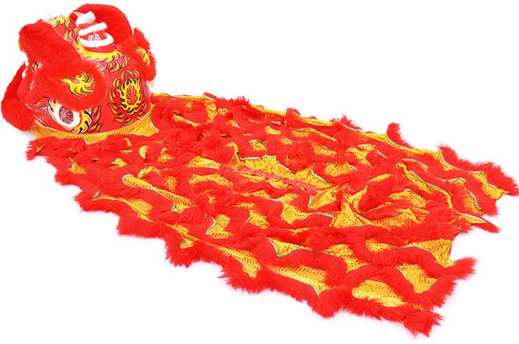 Costume Danse du Lion du Sud Rouge/Or