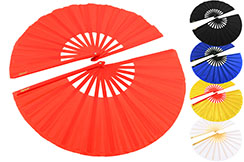 Double Éventail de Tai Chi de couleur Unie (Tai Ji Shan)