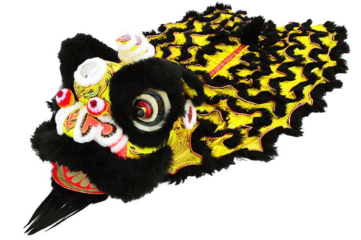 Costume Danse du Lion du Sud, Noir et Or