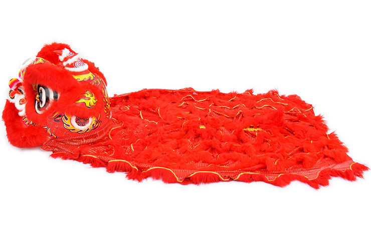 Southern Lion Dance Costume, Red/Red