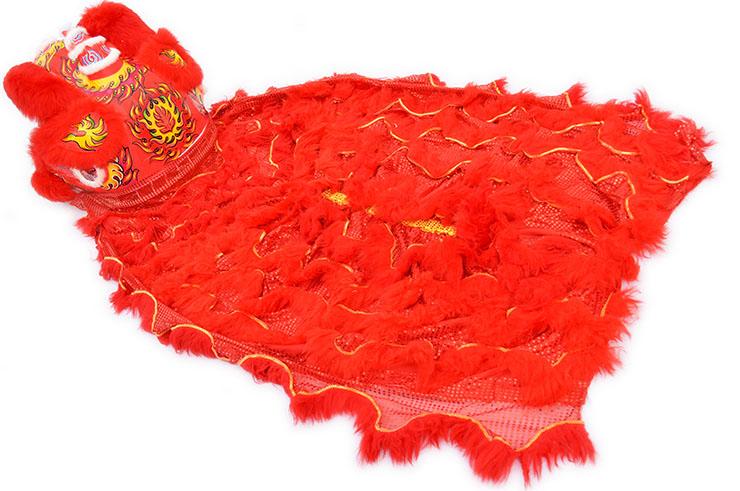 Traje Danza Del León del Sur, Rojo y Rojo