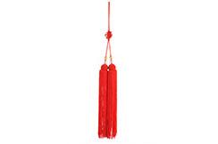 Pompon Pour Épée (Court, Rouge, Perle Transparente)