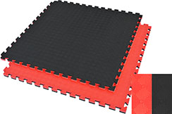 Puzzle Mat, 2.5cm, Black/Red, Rhombic pattern, Anti Slippery