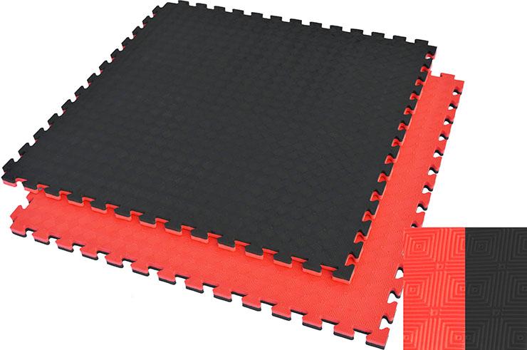 Tatami rompecabezas, 2,5 cm, Negro / Rojo