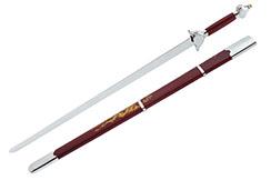 [Déstock] Épée Avec Fourreau, Rouge/Argent