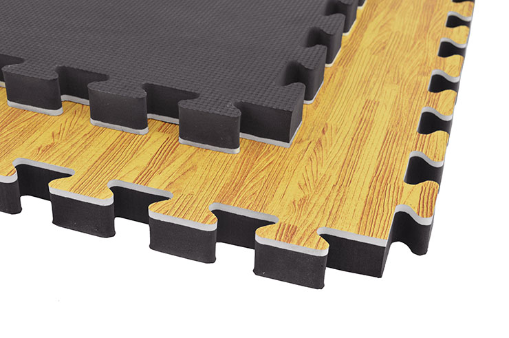 Puzzle Mat, 3cm, Wood / Black