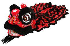 Traje Danza Del León del Sur Negro / Rojo