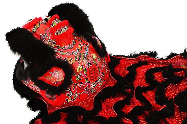 Southern Lion Dance Costume, Black/Red