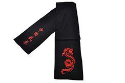 Cinturón de Kung Fu Dragón Tribal bordado, Clásico