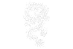 Traje Chang Quan, Imitación Seda, Dragón, 1m55-1m65