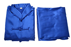 Taiji Uniform, imitation silk, blue