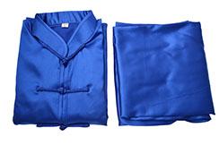 Tenue Taiji, Imitation soie bleue