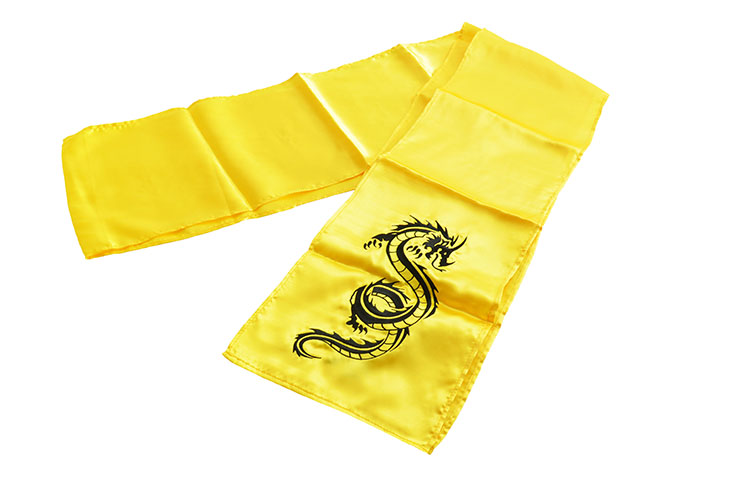 [Fin de series] Embroidered Dragon Kungfu Belt, Silk Imitation
