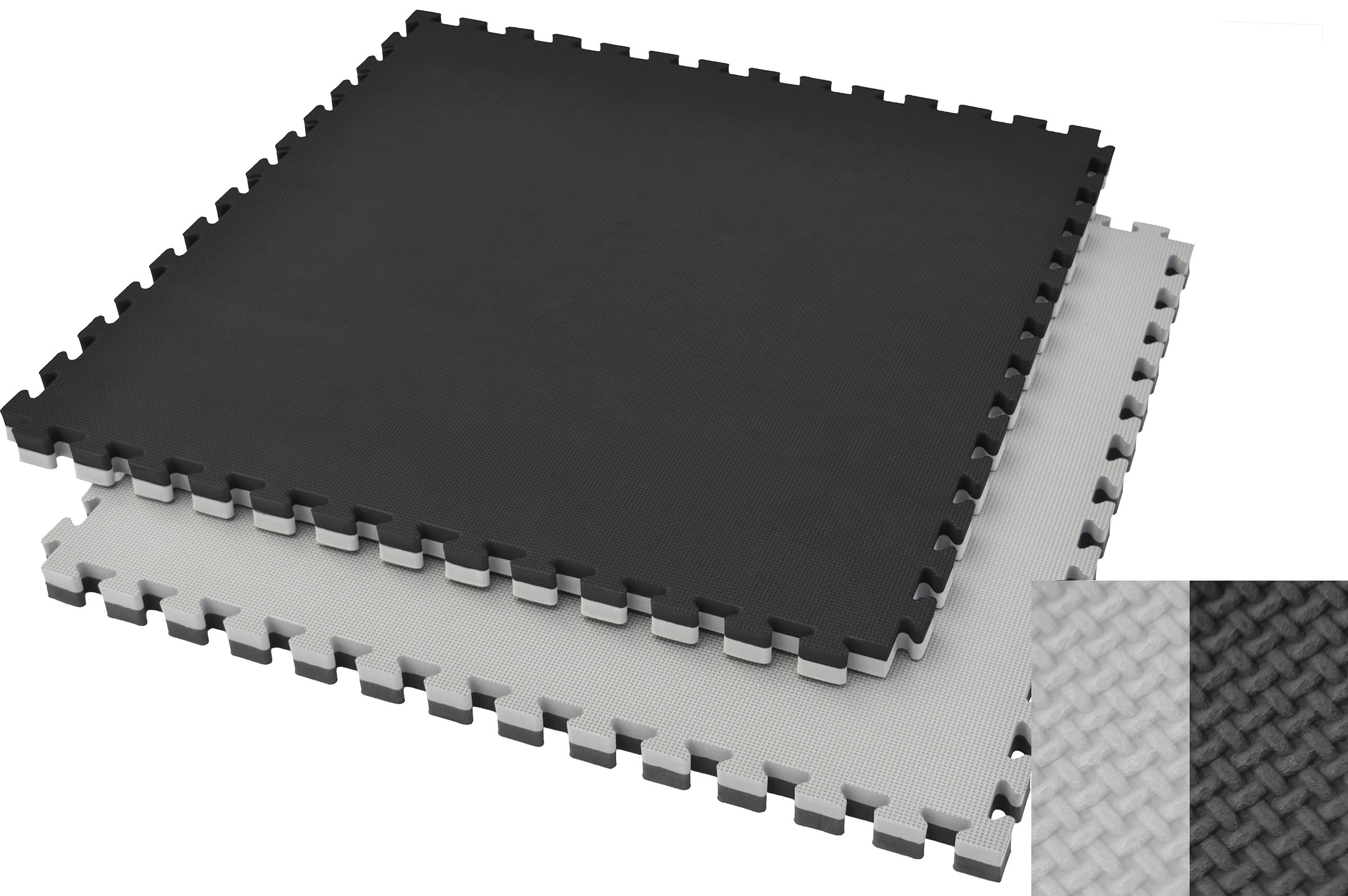 Puzzle Mat 4 cm, Black/Grey, T pattern