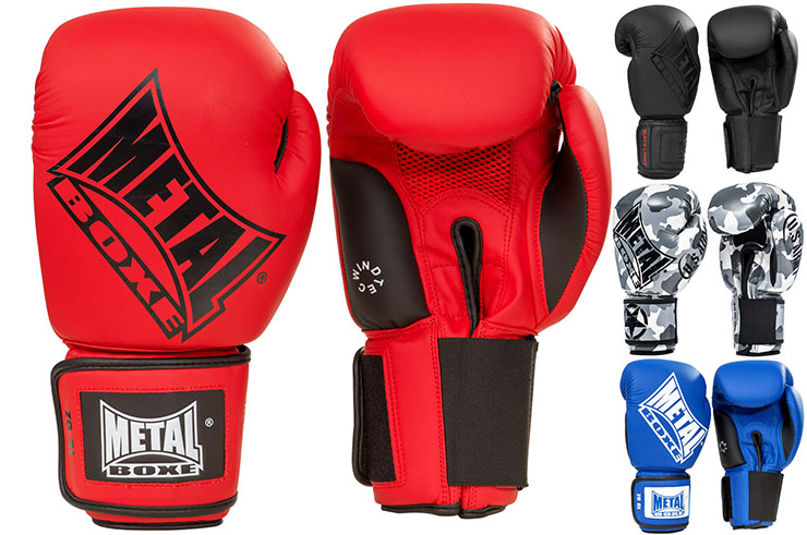 Competition boxing gloves, Classic edition - MB221, Metal Boxe