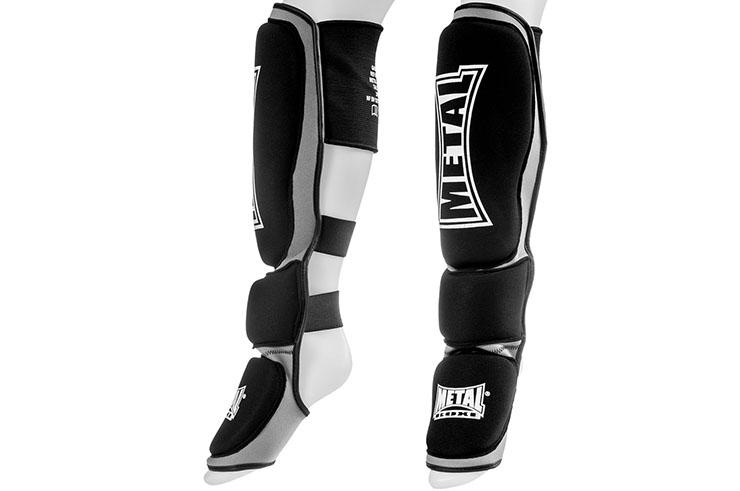 Espinilleras MMA Cuero, Metal Boxe MB528