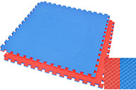 Puzzle Mat 2 cm, Blue/Red, T pattern (Multipurpose)