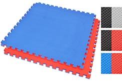 Tatami rompecabezas, 2,5 cm, Azul / Rojo