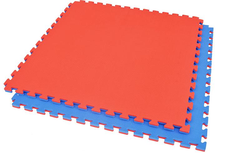 Puzzle Mat 2 cm, Blue/Red, T pattern (Multipurpose)