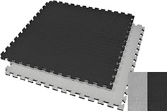 Tatami Puzzle, 2,5cm, Noir/Gris, Motif Rhombique, Anti dérapant