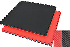 Puzzle Mat, 4cm, Black/Red, T pattern, Multipurpose