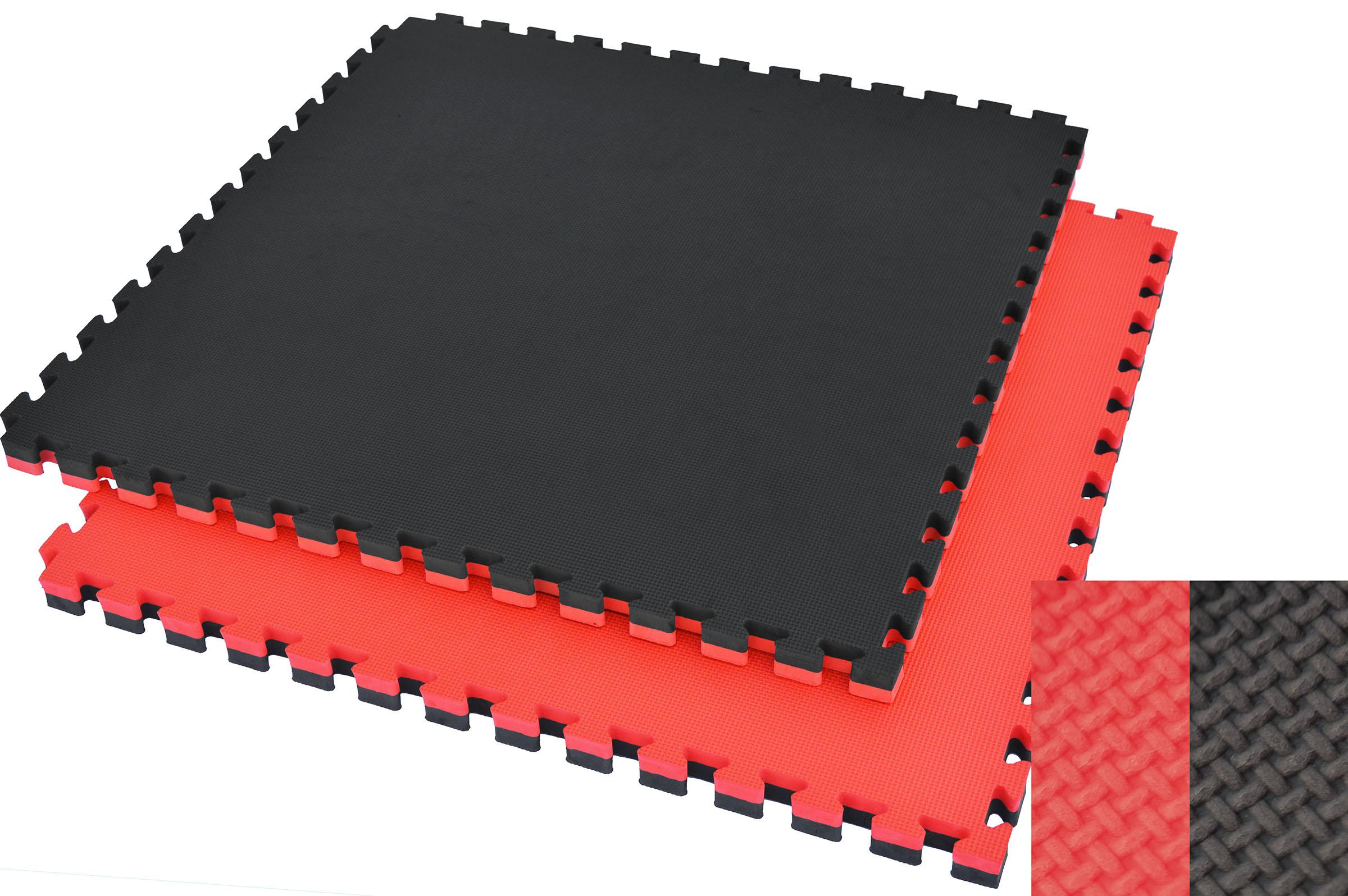 Tatami Puzzle, 4cm, Noir/Rouge