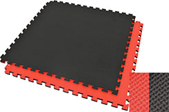 Puzzle Mat, 2cm, Black/Red, T pattern, Multipurpose