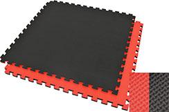 Tatami Rompecabezas, 2cm, Negro/Rojo