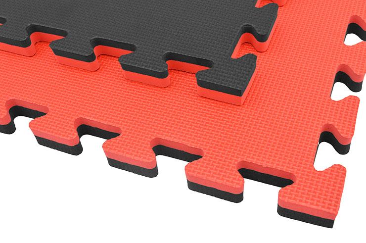 Tatami Puzzle 2 cm, Noir/Rouge, Motif en T (Polyvalent)